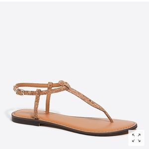 J. Crew Cork T-Strap Sandals